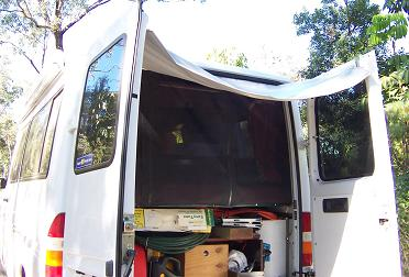 Awning For Rear Opening Of Motorhome